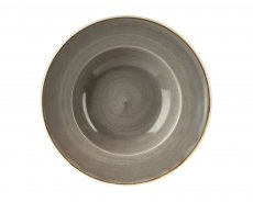 Stonecast Grey Profile Wide Rim Bowl Large 28cm