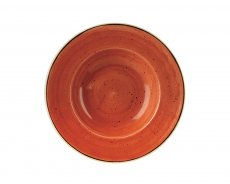 Stonecast Orange Profile Wide Rim Bowl Large 28cm