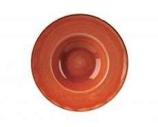 Stonecast Orange Profile Wide Rim Bowl Med 24cm