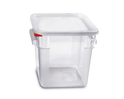 Squared Cont with lid Pc 8L Transparent